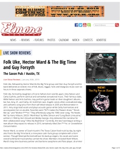 Elmore Magazine | Folk Uke, Hector Ward & The Big Time and Guy F