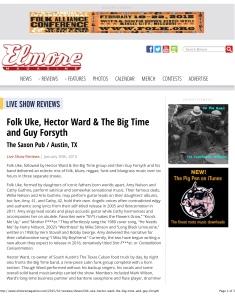 Elmore Magazine | Folk Uke, Hector Ward & The Big Time and Guy F