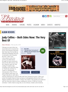 Elmore Magazine | Judy Collins – Both Sides Now: The Very Best