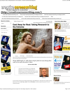 Cast Away for Real: Taking Research to the Extreme | Creative Sc