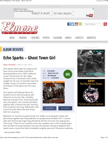 Elmore Magazine | Echo Sparks – Ghost Town Girl