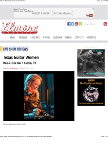 Elmore Magazine | Texas Guitar Women