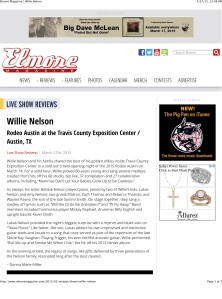 Elmore Magazine | Willie Nelson
