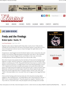Elmore Magazine | Freda and the Firedogs