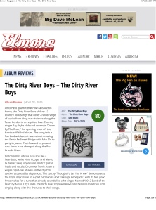 Elmore Magazine | The Dirty River Boys – The Dirty River Boys