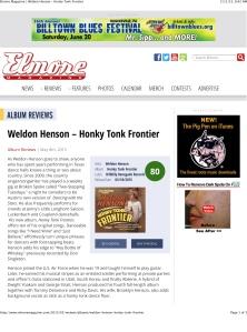 Elmore Magazine | Weldon Henson – Honky Tonk Frontier