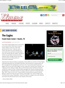 Elmore Magazine | The Eagles