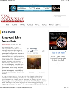 Elmore Magazine | Fairground Saints