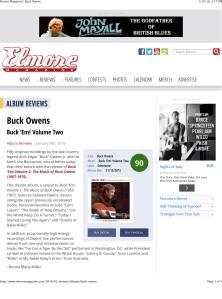 Elmore Magazine | Buck Owens