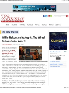 Elmore Magazine | Willie Nelson and Asleep At The Wheel