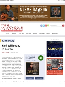 Elmore Magazine | Hank Williams Jr.