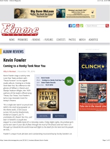 Kevin Fowler – Elmore Magazine