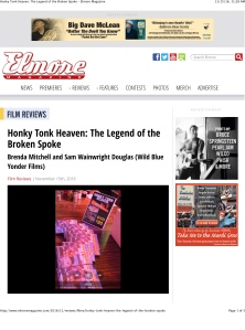 Honky Tonk Heaven: The Legend of the Broken Spoke – Elmore Mag