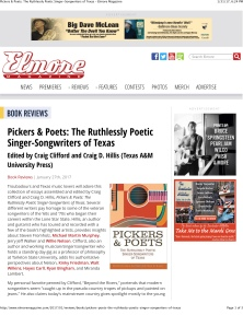 Pickers & Poets: The Ruthlessly Poetic Singer-Songwriters of Tex